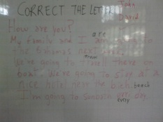 It´s the corrected letter by the students